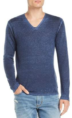 John Varvatos Faded V-Neck Pullover Sweater