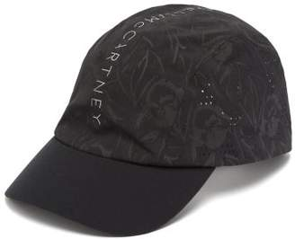 adidas by Stella McCartney Floral Print Reflective Running Cap - Womens - Black