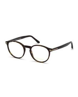 Tom Ford Men's Round Acetate Optical Glasses
