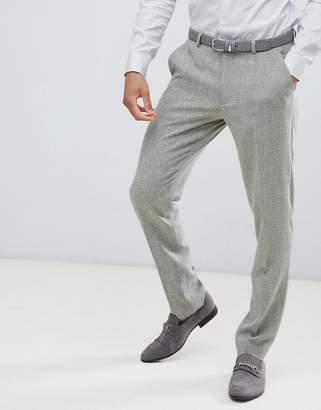 Hatch ASOS DESIGN wedding skinny suit pants in khaki cross