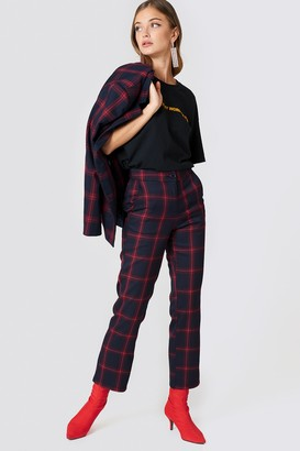 Na Kd Classic Straight Checkered Suit Pants