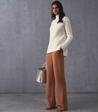 Reiss SONIA CHUNKY RIBBED JUMPER Off White