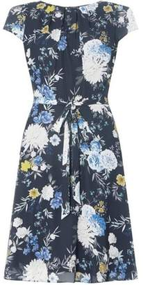 Dorothy Perkins Womens **Billie & Blossom Tall Navy Floral Crepe Dress