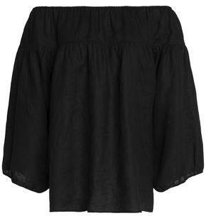 Chloé Off-the-shoulder Linen Top