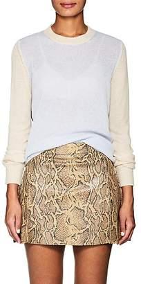 Barneys New York Women's Colorblocked Cashmere Sweater - Lt. Blue