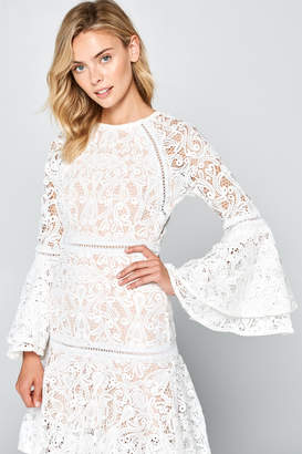 Racine All-White Lace Maxi-Dress