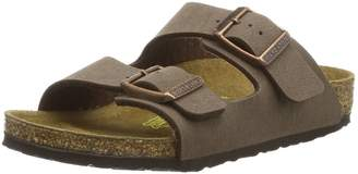 Birkenstock Children's Arizona 2-Strap Cork Footbed Sandal - Narrow Width Mocha 34 N EU