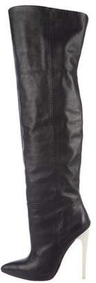 L.A.M.B. Leather Over-The-Knee Boots