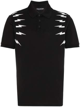 Neil Barrett lightning bolt polo shirt