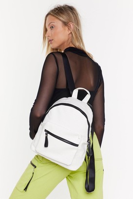 Nasty Gal WANT Croc You Got to Say Faux Leather Backpack