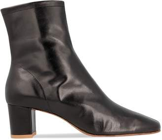 BY FAR Sofia Heeled Leather Booties