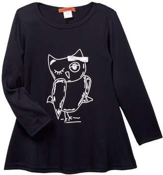 Funkyberry Graphic Print Long Sleeve Shirt (Toddler, Little Girls, & Big Girls)