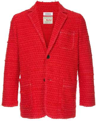 Coohem solid tweed jacket