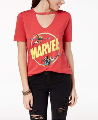 Mighty Fine Juniors' Marvel Choker Graphic T-Shirt