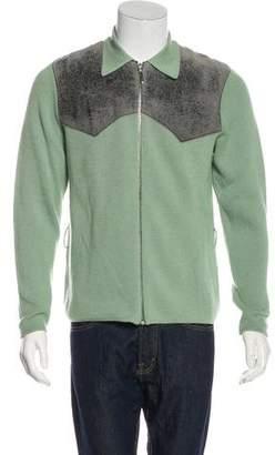 Alexander McQueen Vintage Accented Wool Zip Sweater