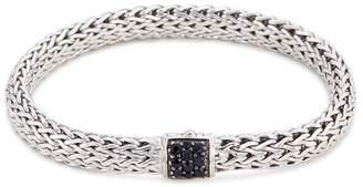 John Hardy Sapphire silver woven chain bracelet