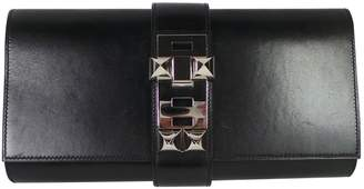 Hermes Black Leather Clutch bag