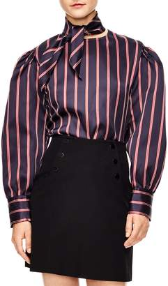 Sandro Stripe Blouse