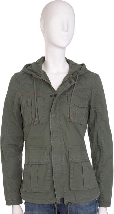 Kill City Hooded Army Jacket - Olive
