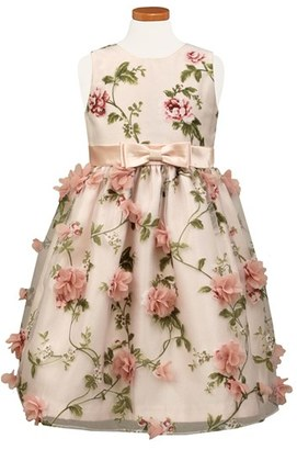 Toddler Girl's Sorbet Embellished Floral Print Organza Dress $75 thestylecure.com