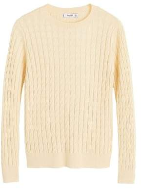 MANGO Cable-knit sweater