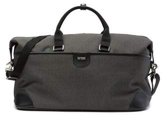 Hartmann Herringbone Leather Trimmed Weekend Duffle