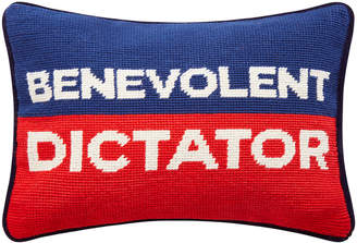 Jonathan Adler UK Needlepoint Personality Pillow - Benevolent Dictator