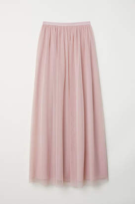 H&M Long Tulle Skirt - Pink
