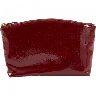 Christian Dior Burgundy Patent leather Clutch Bag