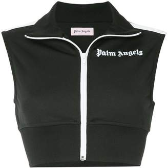 Palm Angels cropped gilet jacket