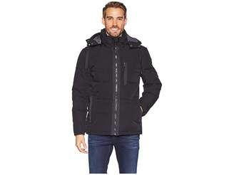 Andrew Marc 60/40 Crinkle Down Mid Length Hooded Jacket