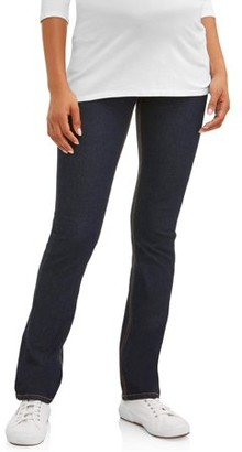 Oh! Mamma Maternity Demi Panel Super Soft Straight Leg Jeans - Available in Plus Sizes