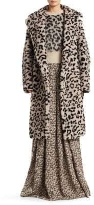 Max Mara Oversized Leopard Print Coat