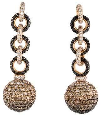 18K Diamond Ball Drop Earrings