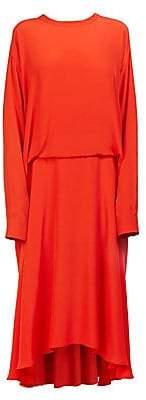 Cédric Charlier Women's Tucked Pleat-Back Midi Dress