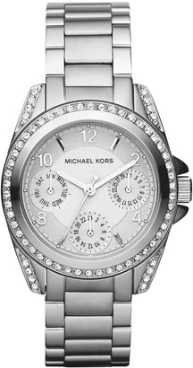 MICHAEL Michael Kors Mini-Size Blair Multi-Function Glitz Watch, Silver-Color $215 thestylecure.com