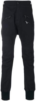 Pierre Balmain zipped panelled trousers