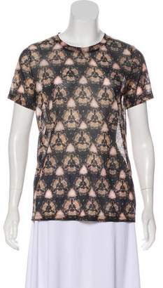 Prabal Gurung Abstract Print Short Sleeve Top
