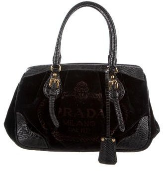prada Prada Karung-Trimmed Handle Bag