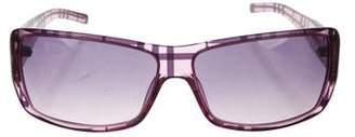Burberry Nova Check Rectangle Sunglasses