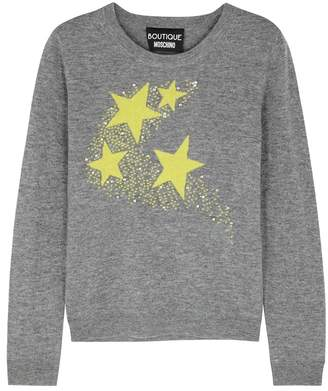 Moschino Embellished Star-intarsia Wool