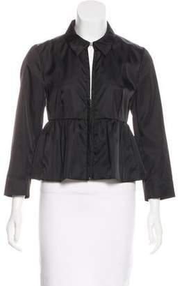 Prada Pleated Zip-Up Jacket