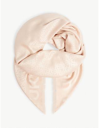 Burberry Monogram silk and wool-blend scarf