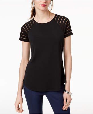 INC International Concepts I.n.c. Illusion-Sleeve T-Shirt