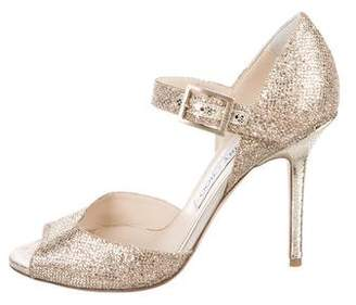 Jimmy Choo Metallic High-Heel Sandals