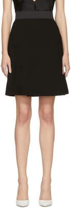 Dolce & Gabbana Black Wool Crepe Miniskirt