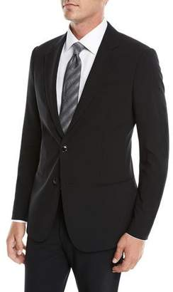 Giorgio Armani Men's Crepe Wool Two-Piece Suit, Black