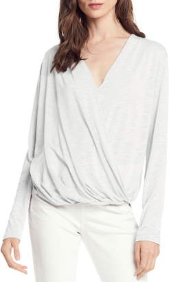 f33624a247b Michael Stars Brooklyn Faux Wrap Jersey Top