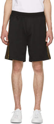 DSQUARED2 Black and Gold Jersey Shorts