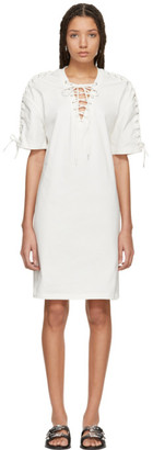McQ Ivory Laced T-Shirt Dress
